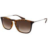 台灣原廠公司貨-【Ray-Ban雷朋太陽眼鏡】RB4187F-856/13 亞洲版 Chris系列墨鏡(#琥珀框-漸層宗鏡面)