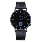 J&V 時尚石英 皮帶 手錶(D41.10.BBLBL) 騎士系列