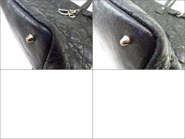 Dior 迪奧 黑色牛皮肩背托特包 Lady Dior  【BRAND OFF】