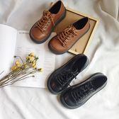娃娃鞋女 韓版ulzzang原宿軟妹ins大頭娃娃鞋百搭復古小皮鞋女學生厚底單鞋 俏女孩