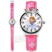 Disney 迪士尼 / MK-14062J / 小公主蘇菲亞 愛心寶石 日本機芯 兒童錶 卡通錶 皮革手錶 白x桃紅 29mm