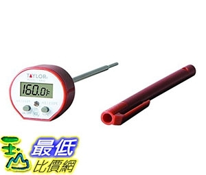 [7美國直購] 料理溫度計 Taylor 9842 紅色 Commercial Waterproof Digital Cooking Thermometer_ii24