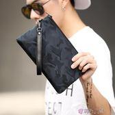 手拿包迷彩防水手拿包韓版時尚男士新款手包休閒街頭手機包潮流男包 時光之旅 免運