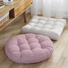 棉麻條紋坐墊現代簡約餐椅墊榻榻米地板墊秋冬加厚保暖靠墊座墊  ATF青木鋪子