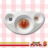 麵包超人 ANP 嬰兒三格止滑餐盤(三角) 塑膠餐盤 大臉造型 盤子 餐盤  餐具 日本進口正版 158801
