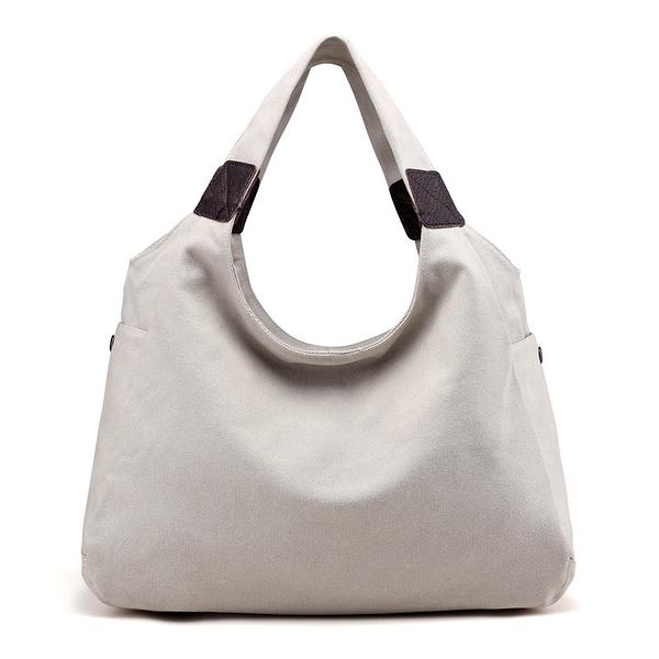 帆布肩背包-簡約休閒隨性大容量女手提包12款73wa37【時尚巴黎】