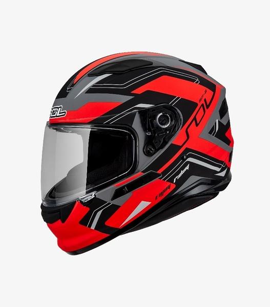 【東門城】SOL SF-6 超新星 (消光灰/黑紅) 全罩式安全帽 雙鏡片 內墨鏡