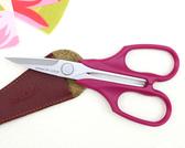 拼布剪刀-紅紫 13CM