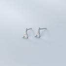 耳環 簡約 小巧 鐵塔 鑲鑽 清新 甜美 耳釘 耳環 【SE847】 BOBI  3/27