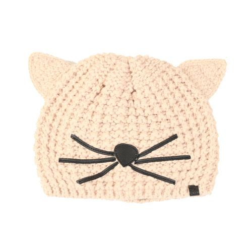 KARL LAGERFELD 發燒話題貓咪毛線帽(粉色)