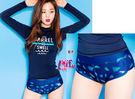 來福妹泳衣,C690長袖泳衣星星點點二件式泳衣游泳衣泳裝比基尼,售價790元