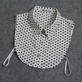 假領子針織外套領片 日系水玉圓點點復古領片襯衫  大學T針織衫外套洋裝[E1279] 預購.朵曼堤洋行