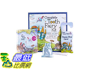 [106美國直購] Blue 乳牙保存盒 Baby Tooth Album Fairyland Complete Collection Kit