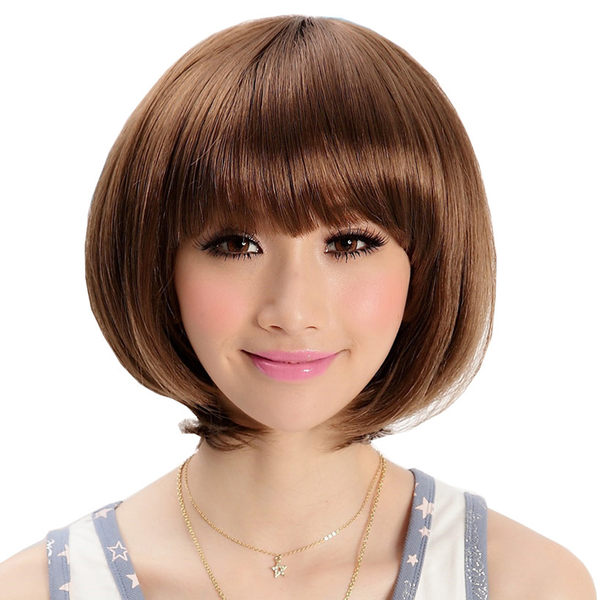 時尚俏麗BOBO可愛女孩短髮【A065】高仿真超自然整頂假髮☆雙兒網☆