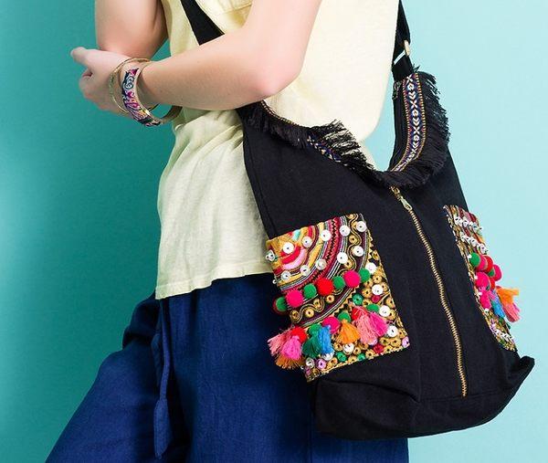 熱銷歐美 民族風包包 手工刺繡包 編織包 帆布包 男女 電腦包 手提肩背包 旅行 斜背包