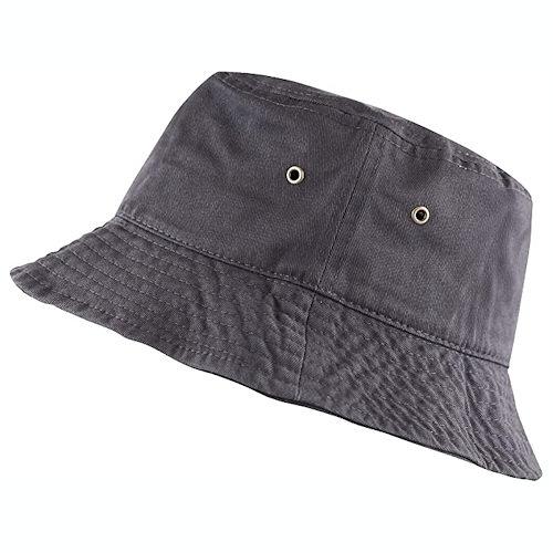 男女防曬遮陽漁夫帽(炭灰色)