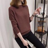 毛衣女寬鬆2018韓版新款純色長袖加厚打底衫