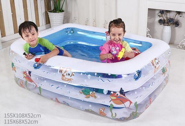 兒童游泳池充氣家庭嬰兒成人家用海洋球池加厚超大號戲水池YXS『夢娜麗莎精品館』
