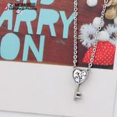 [Z-MO鈦鋼屋]愛心鑰匙水鑽項鍊/大方優雅系列/潘朵拉寶石/單條價【ASS049】