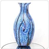 HONEY COMB 天藍琉璃花器 FI34