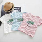 黑五好物節 男女寶寶夏裝0一1-2-3歲韓版套裝短袖T恤條紋中褲童裝嬰兒童衣服 小巨蛋之家