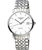LONGINES 浪琴 Elegant 優雅系列機械錶-白/39mm L49104126