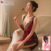 情趣內衣激情套裝性感睡衣誘惑蕾絲睡裙夜火透視裝騷免脫短裙大碼 QQ15650『東京衣社』