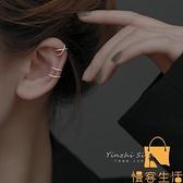 925純銀耳夾無耳洞女耳飾耳骨夾耳環輕奢簡約性冷淡風【慢客生活】