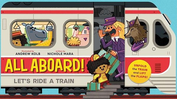 【小男生最愛! 火車造型書】ALL ABOARD LETS RIDE A TRAIN/造型硬頁翻翻書