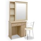 Homelike 艾凡收納化妝桌椅組-梧桐(免組裝)