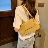 高級感法國小眾腋下包包女2020夏季新款韓版質感風琴包法棍單肩包側背包