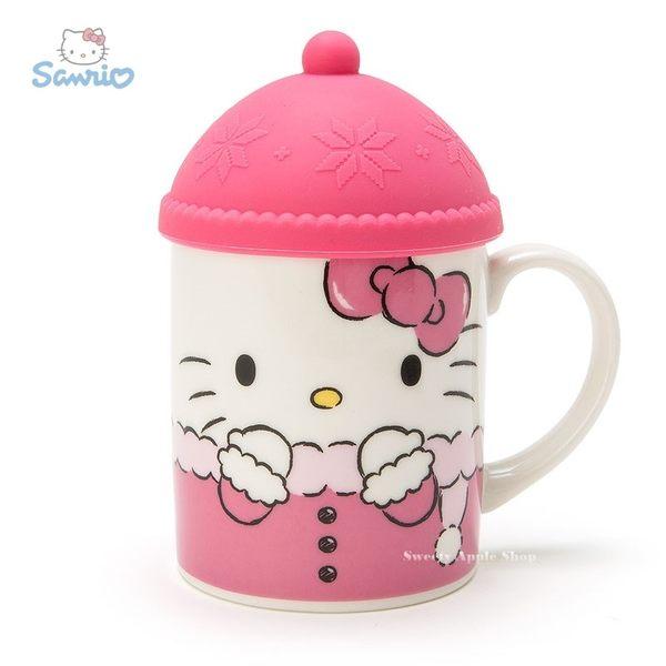 日本限定 HELLO KITTY 凱蒂貓 針織帽造型杯蓋  馬克杯組