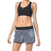 Puma 女 黑 白 條紋 運動 3吋慢跑短褲 馬拉松 單層 短褲 飄飄褲 透氣 51375302