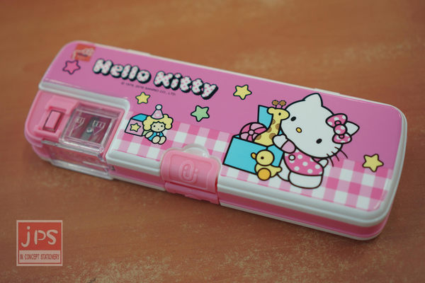 Hello Kitty 雙筆削筆盒 (玩具粉)