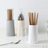 筷子筒帶蓋防塵筷子架塑料筷子筒廚房餐具收納架瀝水筷子盒勺子置物架