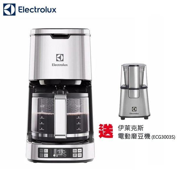 【贈電動磨豆機ECG3003S】Electrolux 伊萊克斯 設計家系列 美式咖啡機 ECM7814S
