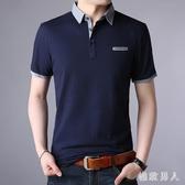 Polo衫男士大碼短袖t恤2020新款半袖體桖棉質有領寬鬆中年爸爸襯衫領翻領衫LXY7435【極致男人】