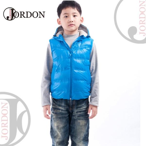 【JORDON 橋登 童羽絨背心《湛藍》】0129/保暖背心/兒童背心