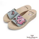 Paidal x 卡娜赫拉的小動物 - 海水浴場與螃蟹一片式厚底涼拖鞋
