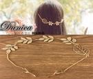 髮夾 現貨 韓國連線熱賣甜美浪漫女神款立體金屬感葉子鍊條後掛髮夾 S7820 批發價 Danica 韓系飾品