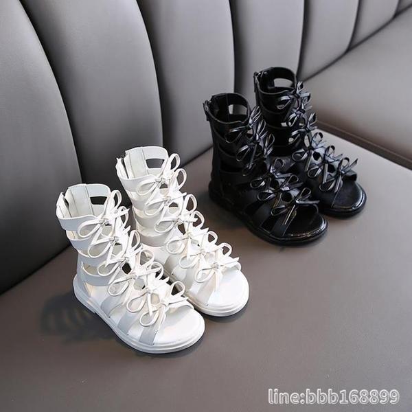女童涼鞋 女童羅馬涼鞋韓版兒童小女孩公主鞋夏季新款軟底寶寶鞋鏤空中大童 城市科技