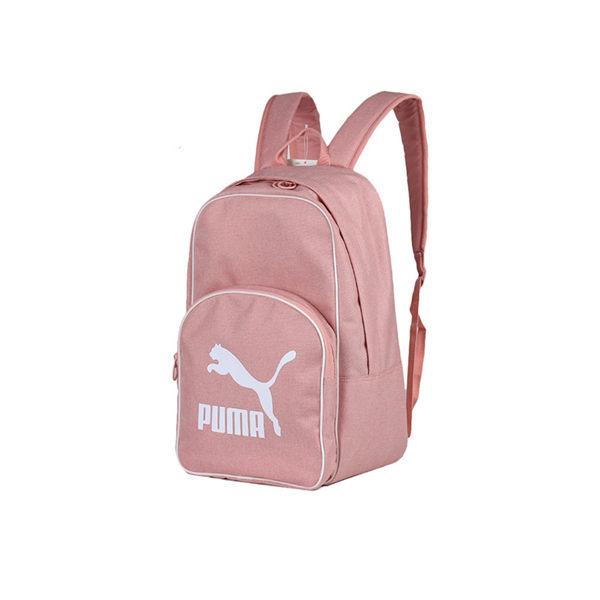 PUMA 粉白 粉紅 大logo 基本款 後背包 (布魯克林) 07665204
