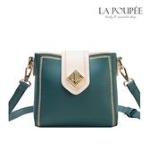 側背包 時尚菱形扣繡邊小方包 4色-La Poupee樂芙比質感包飾 (現貨+預購)
