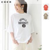 速乾 印花LOGO 女T恤免運費 日本品牌【coen】
