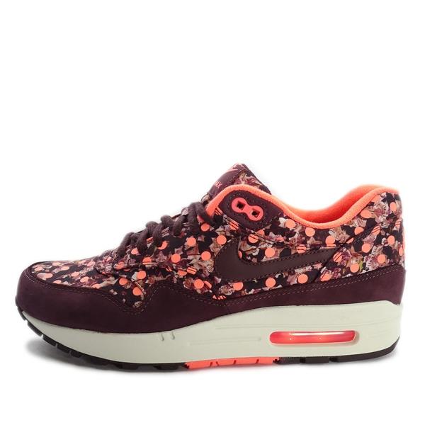 Nike WMNS Air Max 1 LIB QS [540855-600] 女鞋 慢跑 運動 休閒 酒紅 橘