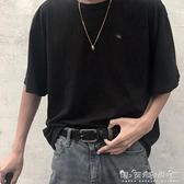 ins港風酷皮帶男潮流年輕人學生韓版百搭簡約褲腰帶女韓國個性黑 晴天時尚