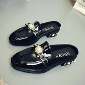 穆勒女鞋包頭半拖鞋女拖鞋女夏時尚外穿穆勒鞋平底涼拖港風女鞋子 貝兒鞋櫃