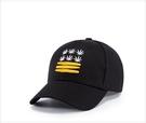 FIND 韓國品牌棒球帽 男 街頭潮流 麻葉刺繡 歐美風 嘻哈帽  街舞帽 太陽