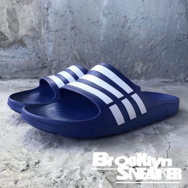ADIDAS DURAMO SLIDE  藍白條拖鞋 防水 海灘 拖鞋 男女 (布魯克林) G14309