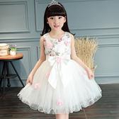 衣童趣♥氣質款 立體花朵 網紗無袖 澎澎裙 正是場合 舞會 畢業典禮 生日派對 洋裝